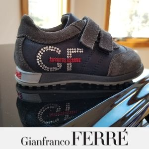 GF Ferre Crystal Logo Baby Sneakers